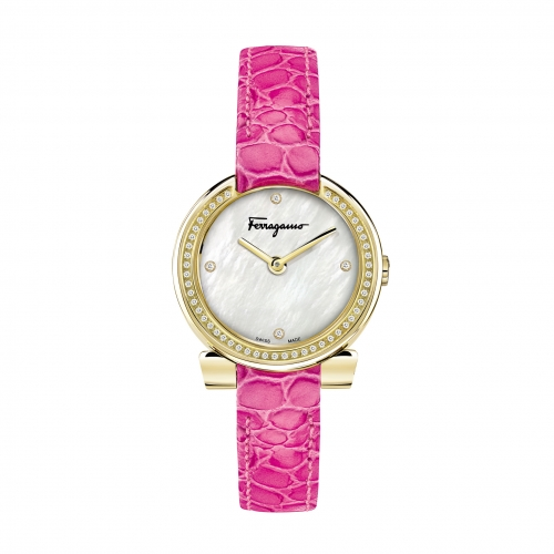 GANCINO STAINLESS PINK LEATHER LADIES WATCH FAP050016, 30MM