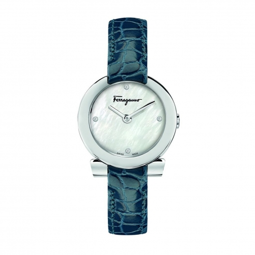 GANCINO STAINLESS BLUE LEATHER LADIES WATCH FAP020016, 30MM
