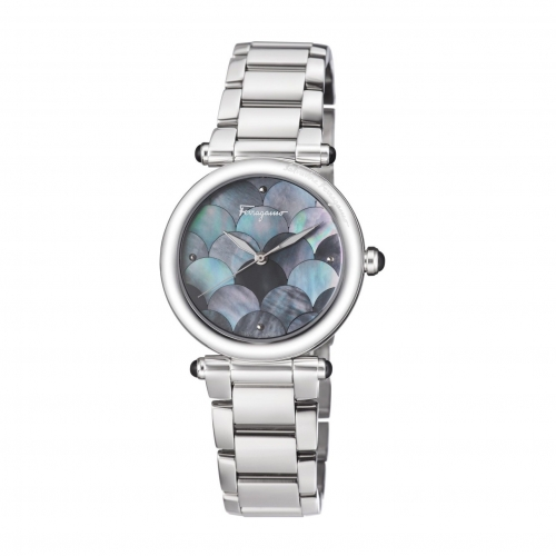 IDILLIO GREY MOTHER OF PEARL STAINLESS LADIES WATCH FCH050016, 34MM