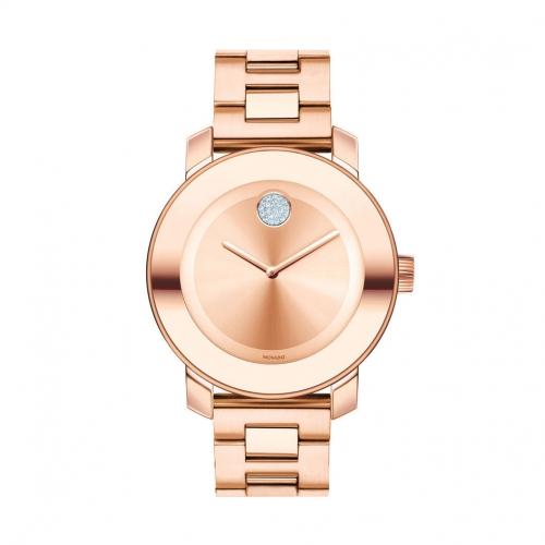 MOVADO BOLD ROSE GOLD-TONE BRACELET LADIES WATCH 3600086, 36MM
