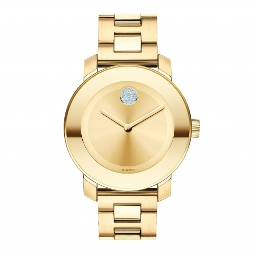 BOLD MEDIUM GOLD ION PLATED STAINLESS STEEL BRACELET WATCH 3600104, 36MM