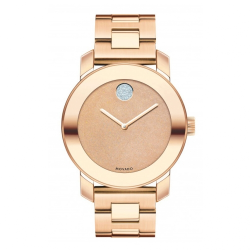 MOVADO BOLD ROSE GOLD ION-PLATED LADIES WATCH 3600335, 36MM