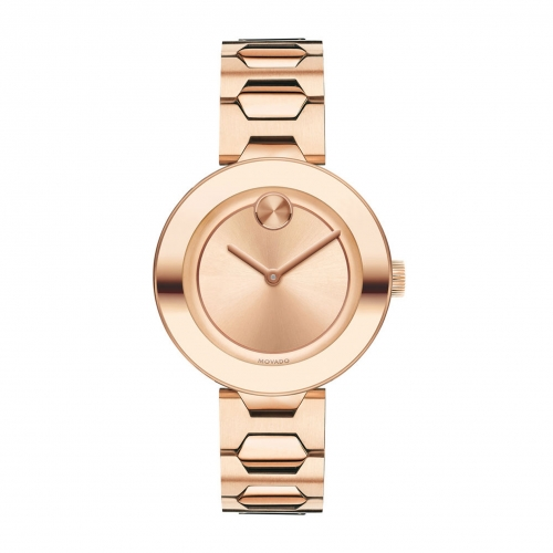 MOVADO BOLD ROSE GOLD PVD LADIES WATCH 3600387, 32MM