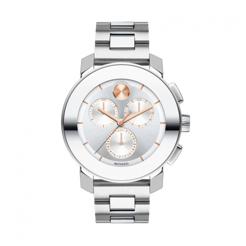 MOVADO BOLD STAINLESS STEEL BRACELET CHRONOGRAPH 3600356, 38MM