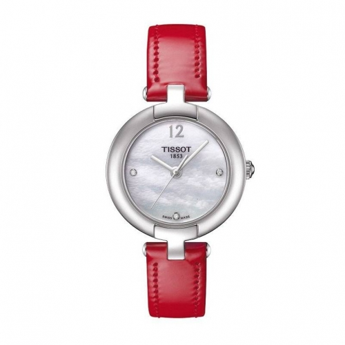 TISSOTT-Trend Pinky Mother of Pearl Dial Diamond Ladies Watch T0842101611600