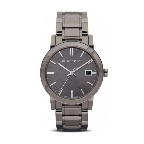 THE CITY STAINLESS STEEL BRACELET WATCH WITH CHECK ETCHING BU9007, 38MM