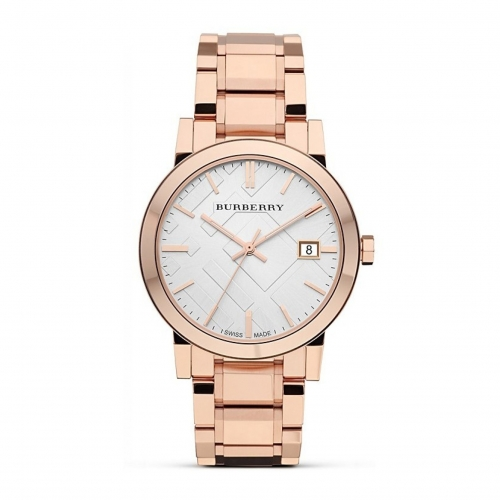 THE CITY ROSE GOLD STAINLESS STEEL UNISEX WATCH BU9004, 38MM