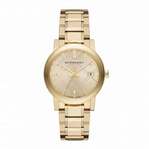 THE CITY GOLD-TONE STAINLESS STEEL BRACELET UNISEX WATCH 38MM