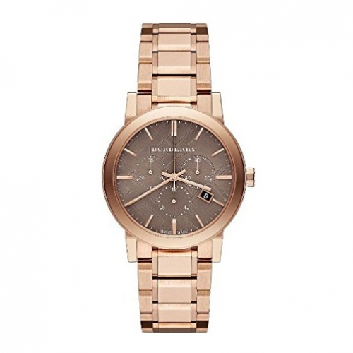 THE CITY SWISS CHRONOGRAPH ROSE GOLD ION-PLATED STAINLESS STEEL BRACELET UNISEX WATCH BU9754, 38MM