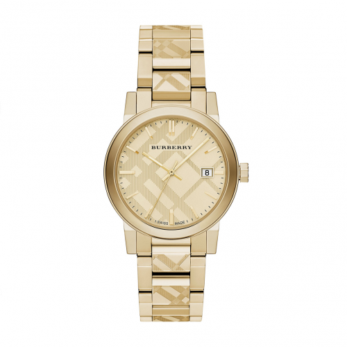 THE CITY GOLD ION-PLATED STAINLESS STEEL BRACELET LADIES WATCH BU9145, 34MM