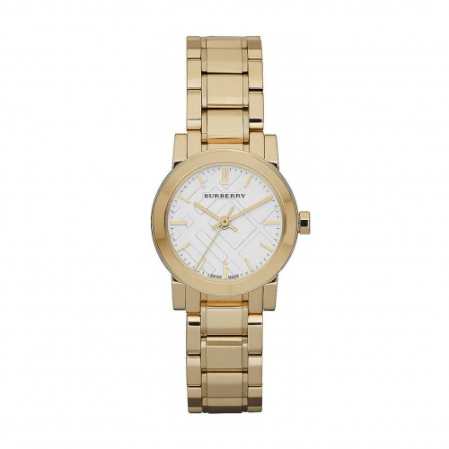 THE CITY SMALL ROUND GOLD LADIES WATCH BU9203, 26MM