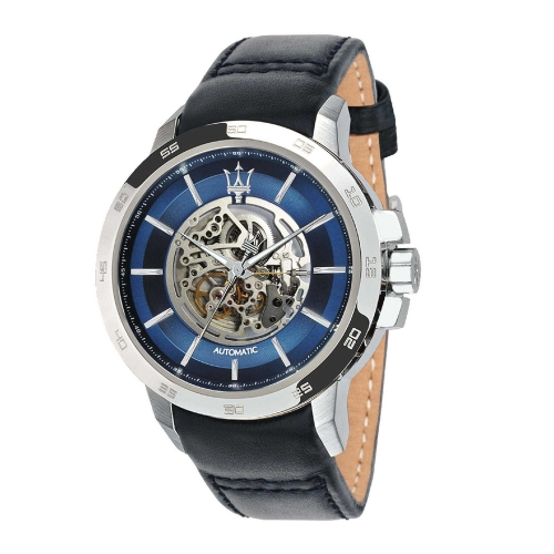Maserati Ingegno Automatic Blue Open Heart Dial Mens - 45mm