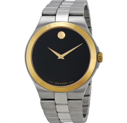 Movado 0606557 Black Dial Two-Tone Men's Watch 40mm