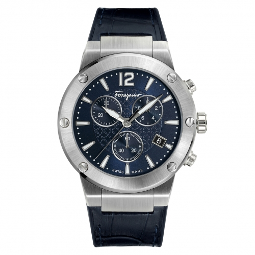 F-80 SWISS QUARTZ STAINLESS STEEL AND LEATHER FIJ020017, 44MM
