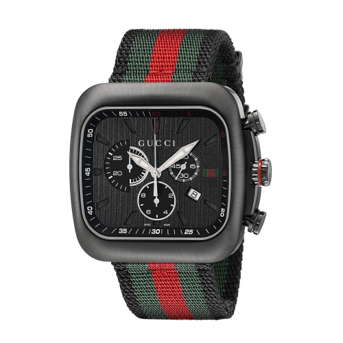 Gucci Coupe Black Stainless Steel