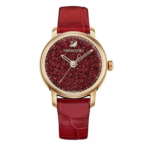 CRYSTALLINE HOURS WATCH, RED 5295380, 38MM