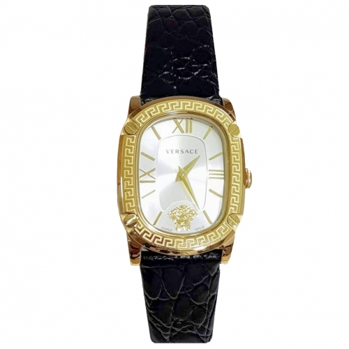 VERSACE COUTURE BLACK LEATHER WATCH 30MM