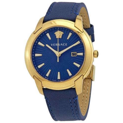 VERSACE V-URBAN BLUE SWISS WATCH 42MM