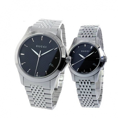 GUCCI G-TIMELESS BLACK DIAL SWISS STAINLESS STEEL