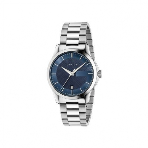G-Timeless Blue Dial Stainless Steel Unisex Watch 38mm