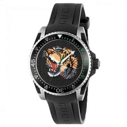 Gucci  Men Dive Black Quartz Watch