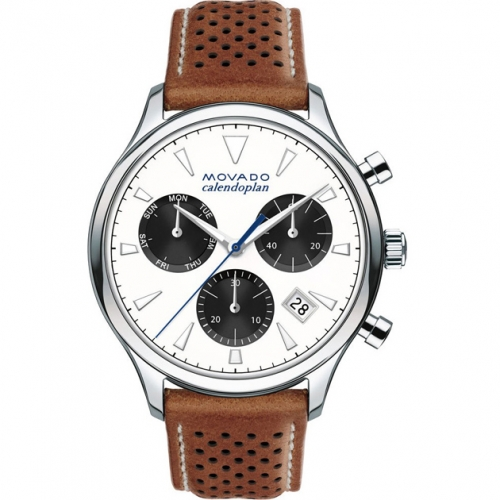 Movado Caledophan Brown Leather, 3650008, 43mm