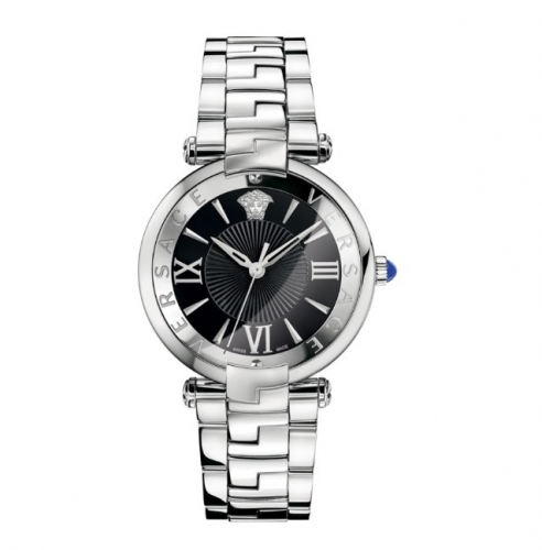 REVIVE BLACK DIAL STAINLESS STEEL WATCH 35MM