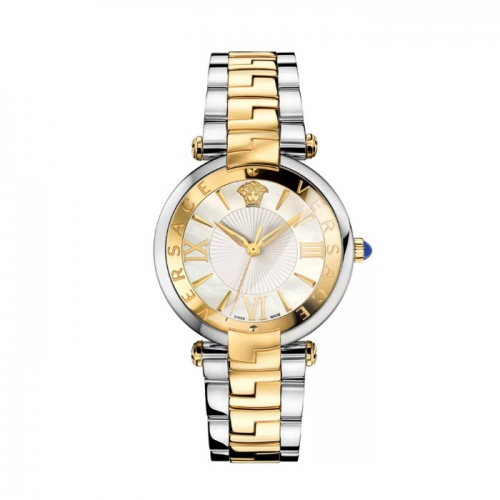 REVIVE TWO TONE STAINLESS STEEL WHITE MOP DIAL WATCH 35MM